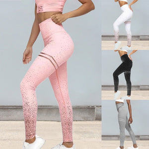 MoneRffi 2020 Hot Women Sexy Black Mesh Leggings Pants Srtriped Printed Gym Leggings Slim Fitness High Waist Leggings Workout
