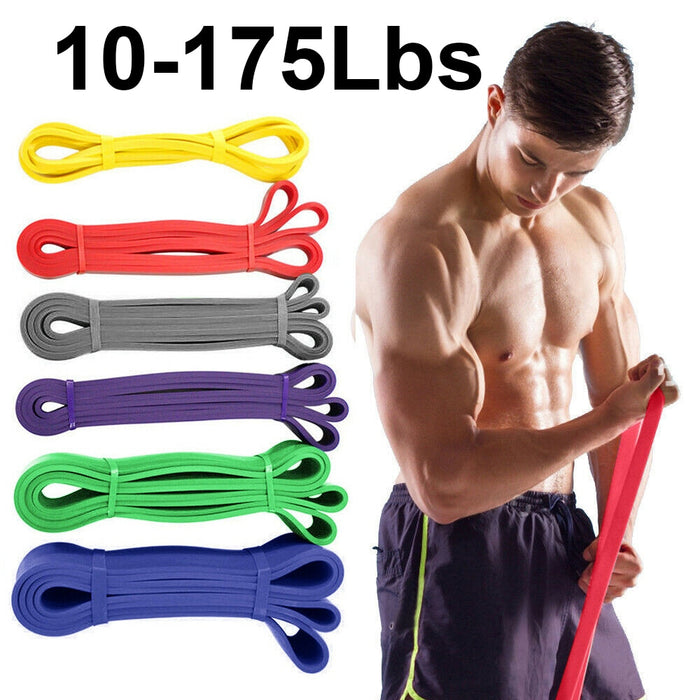 Unisex 208cm Pull Up Elastic Band Natural Latex Rubber Loop Resistance Bands Gym  Fitness Expander Strengthen Trainning Power