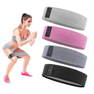 Workout Fitness Hip Loop Resistance Bands Anti-slip Squats Expander Strength Rubber Bands Yoga Gym Training Braided Elastic Band