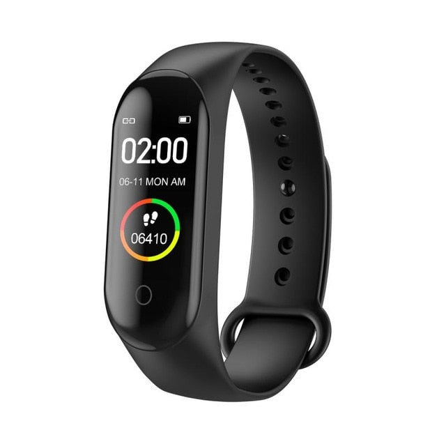 M4 Pedometer Smart Wristband Sport Running Heart Rate Blood Pressure Waterproof Touch Screen Bluetooth Fitness Tracker Pedometer