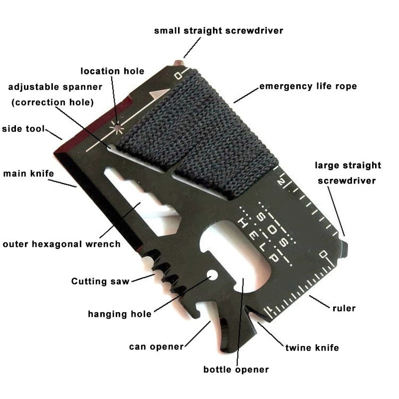 Multifunctional Pocket Emergency Tool