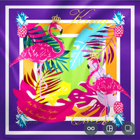 The Flamingo Silk Scarf