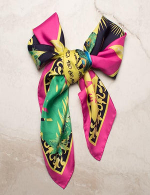 The Peacock Silk Scarf