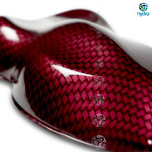 Load image in gallery viewer, HCC-006 red carbon-chrome hydrographic sheet