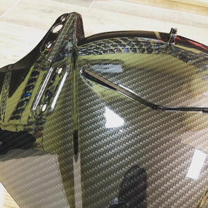 MOTORCYCLE MOLDING IN HFC-103 Carbon fiber hydrographic sheet