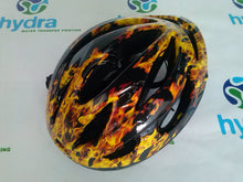 Load image in the gallery viewer, HLC-001 hydroimpresion helmet   skull flames transfer paper
