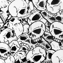 Load image in gallery viewer, HLC-039 skull flames transfer paper