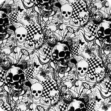 Load image in gallery viewer, HLC-061 Flames and skulls hydroimpression sheet