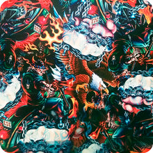 Load image in gallery viewer, HLC-065 Flames and skulls hydroimpression sheet