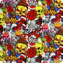 Load image in gallery viewer, HLC-096 Flames and skulls hydroimpression sheet