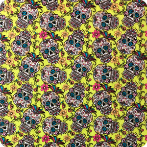 HLC-110 Mexican skull flames hydroprinting sheet