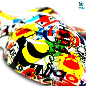 HLC-045 HYDROPRINTING | skull flames transfer paper