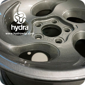 HME-056 HYDROPRINT CAR TIRE | Brushed aluminum hydrographic sheet