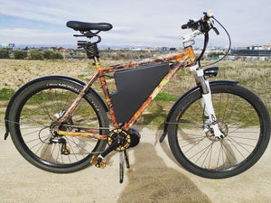 HME-067 STEEL HYDROIMPRESSION BICYCLE | Steel hydrographic sheet in ocher oxide
