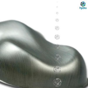 HME-058 Brushed Silver Hydrographic Sheet