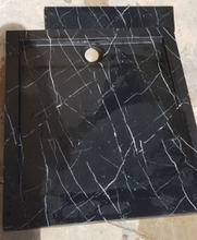 Load image in the gallery viewer, HMM-043 shower tray with marble effect hydro-impression decoration