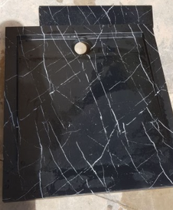 HMM-043 shower tray with marble effect hydroimpression decoration