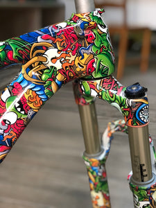 HOT-045 CUSTOMIZED BICYCLE WITH HYDROPRINTING | Water transfer printing monsters print