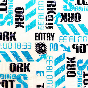 HOT-051 Hydrographic sheet blue letters