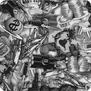 HOT-079 Hydrographic sheet weapons and bullets