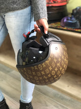 Load image in gallery viewer, HOT-143 HELMET DECORATED WITH hydroprinting Louis Vuitton