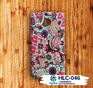 HLC-046 | PERSONALIZED MOBILE CASE HYDROPRINTING paper transfer flames skulls