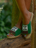 Beaded Espadrilled - Green