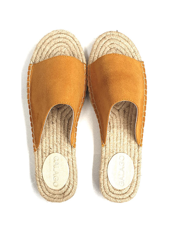 Leather Espadrilles - Mustard