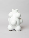 Accent unique flower vase medium - White