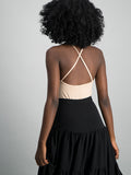 String sleeveless bodysuit - Nude