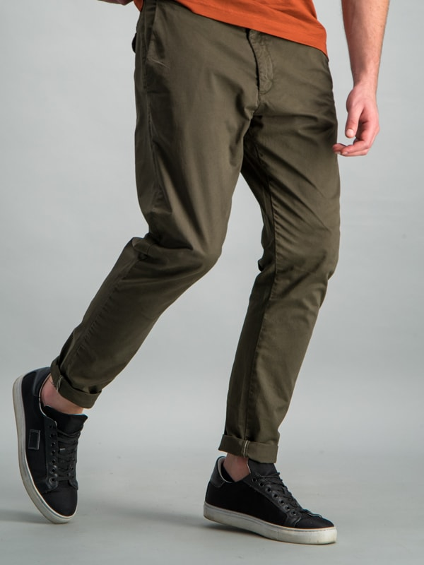 FLAT FRONT CHINO - FATIQUE