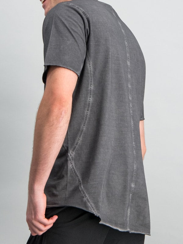 FASHION CREW PIGMENT T-SHIRT - CHARCOAL
