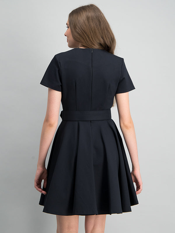 Classic fit and flare dress - Black