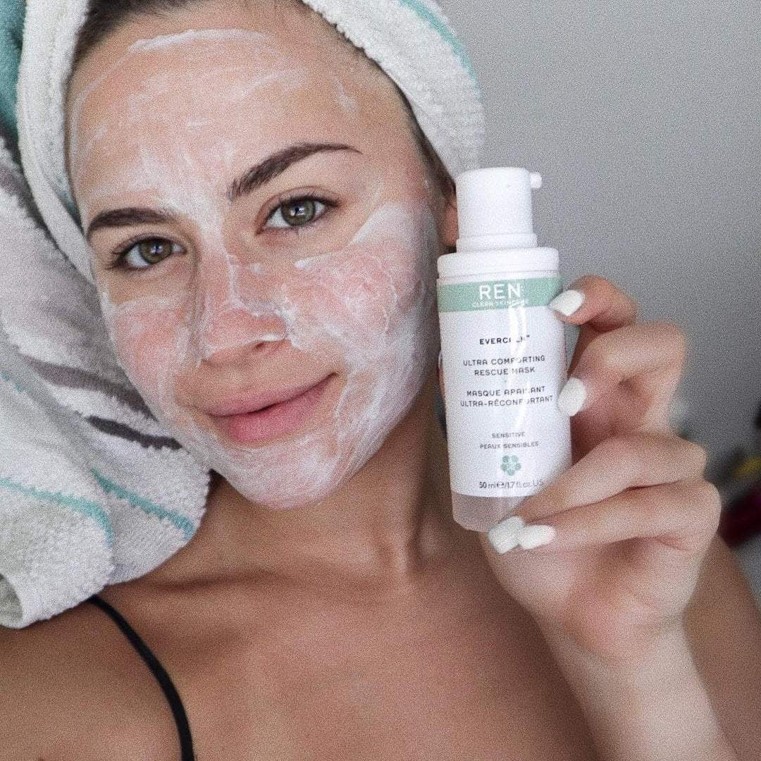 Instantly calming, hydrating cream mask.