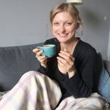 Nutritionist Sheelagh Daly drinking coffee
