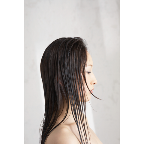 asian woman with wet hair