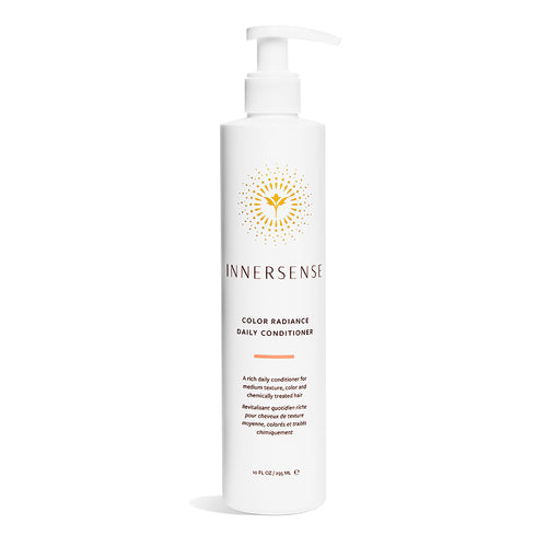 10oz White bottle that reads Innersense Color Radiance Daily Conditioner - organic conditioner for colour treated or dry hair