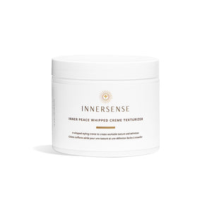 White container that reads Innersense Inner Peace Whipped Creme Texturizer - a natural styling cream to create workable texture and definition