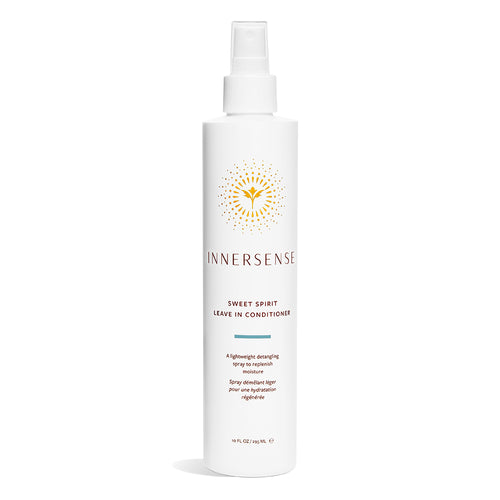10oz white bottle that read Innersense Sweet Spirit Leave In Conditioner - replenish moisture with this lightweight detangling spray