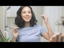 Load and play video in Gallery viewer, Clean Beauty Hair Tips video on how Innersense's True Enlightenment Scalp Scrub promotes a health scalp - cover photo is og a woman smiling in the mirror, preparing for natural scalp treatment