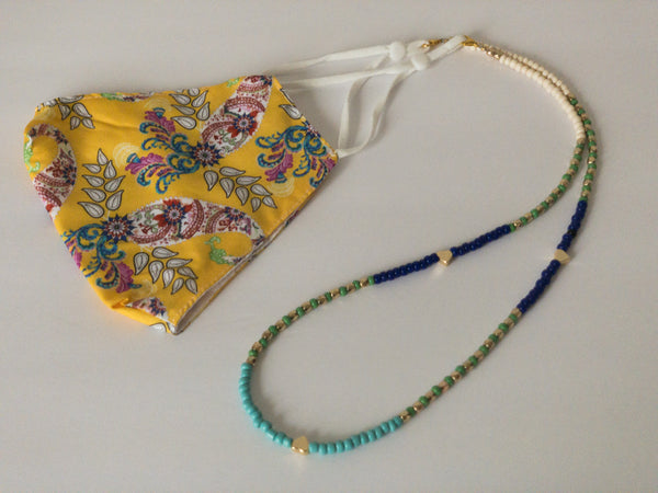 Azea Beaded Chain for Face Masks + Eyeglasses