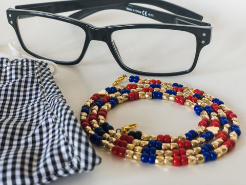 Zaria Beaded Chain for Face Masks + Eyeglasses