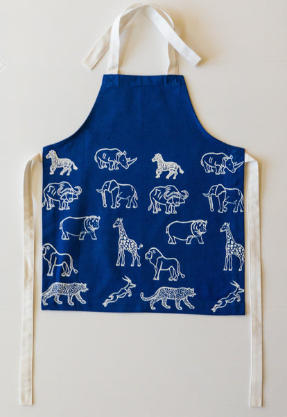 Mabinti Kids Apron (in Blue)