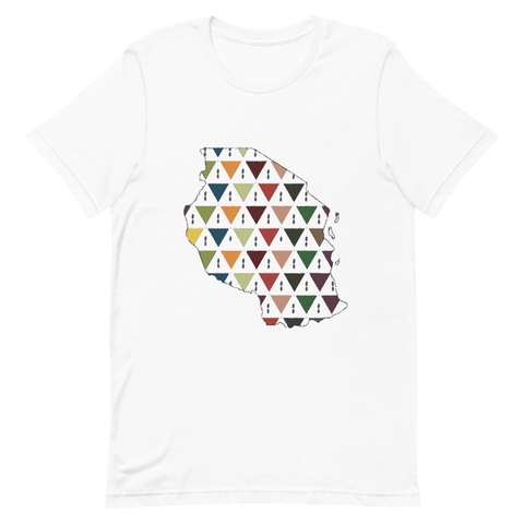 Tanzania Map Pattern T Shirt