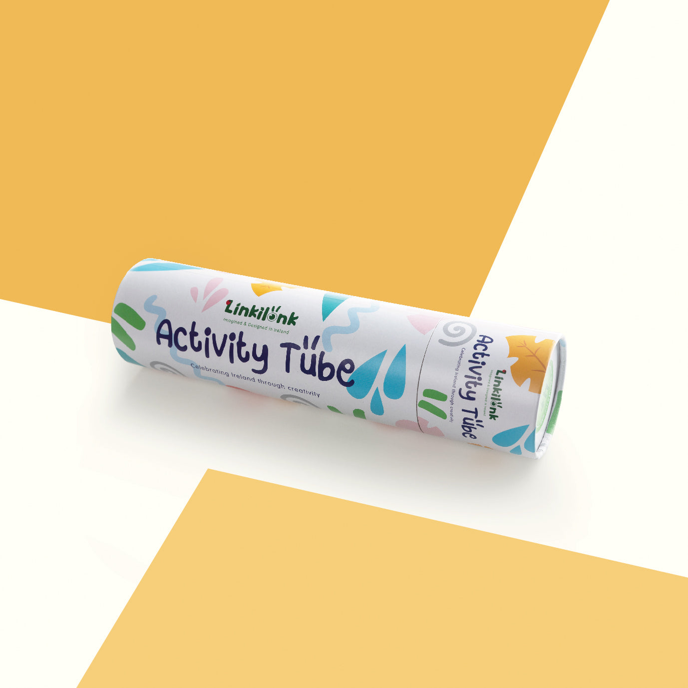 Photo of Linkilonk Activity tube. A perfect gift for kids from ages 4 to 8. Imagined and designed in Ireland.