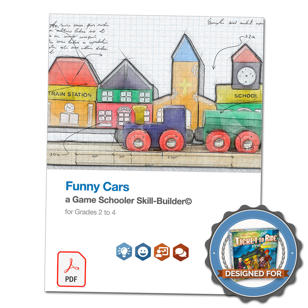 Funny Cars - A Game Schooler Skill-Builder©