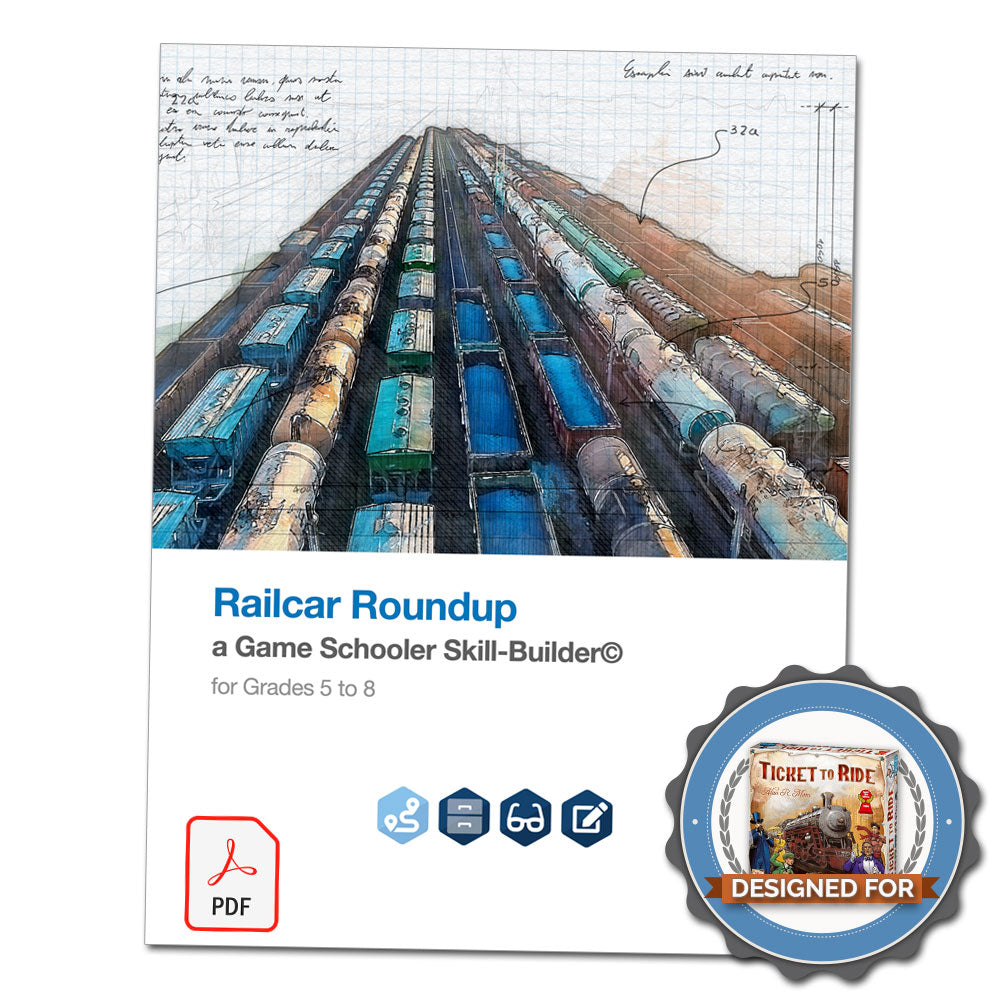 Railcar Roundup - A Game Schooler Skill-Builder©