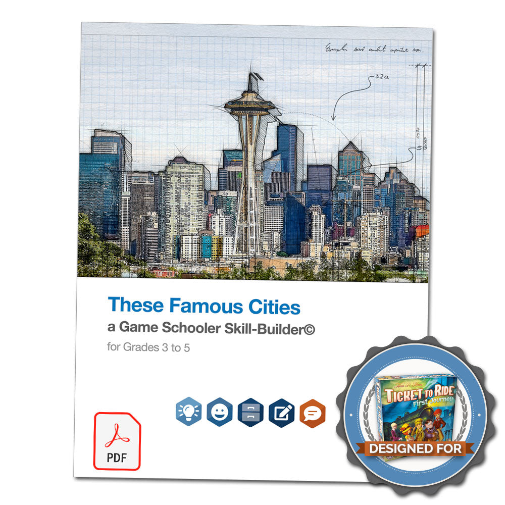These Famous Cities - A Game Schooler Skill-Builder©
