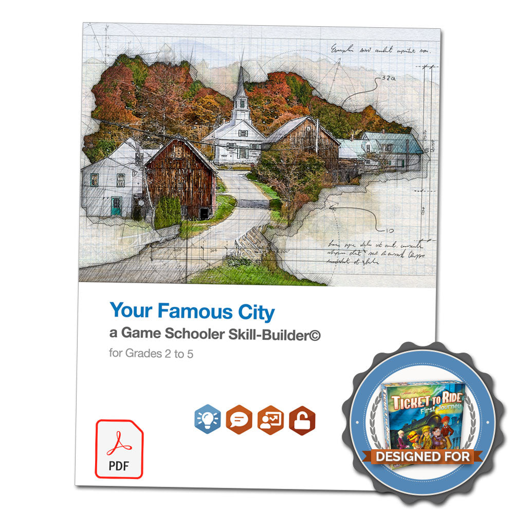 Your Famous City - A Game Schooler Skill-Builder©