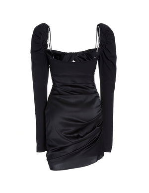 Load image into Gallery viewer, SILK TWIST DRESS BLACK